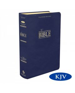 Platinum Remnant Study Bible KJV (Genuine Top-grain Leather Blue) King James Version