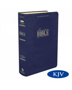 Platinum Remnant Study Bible KJV (Genuine Top-grain Leather Blue) King James Version
