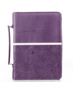 "Purple LuxLeather Bible Case (fits 6.7"" x 9.6"" Bible)"
