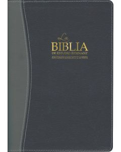 La Biblia De Estudio Remnant Piel Regenerada Azul/Gris RVR60 - Spanish Remnant Study Bible Bonded Leather Blue/Gray
