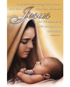 Bulletin Cover—Jesus' Birth