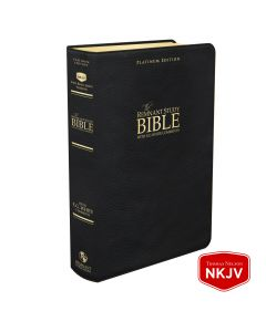 Platinum Remnant Study Bible NKJV (Genuine Top-grain Leather Black)