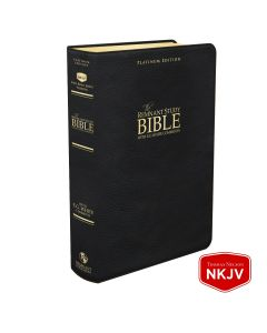 Platinum Remnant Study Bible NKJV - LARGE Print (Genuine Top-grain Leather Black)
