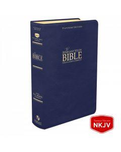 Platinum Remnant Study Bible NKJV (Genuine Top-grain Leather Blue)