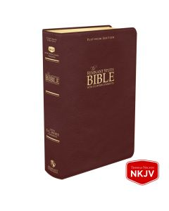Platinum Remnant Study Bible NKJV (Genuine Top-grain Leather Maroon)