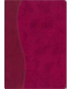 La Biblia De Estudio Remnant LeatherSoft Frambuesa RVR60 - Spanish Remnant Study Bible Raspberry