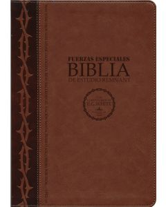 La Biblia De Estudio Remnant LeatherSoft Fuerzas Especiales Café RVR60 - Spanish Remnant Study Bible Special Forces Brown